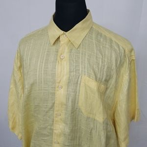 Tommy Bahama Linen S/S Button Up Shirt Yellow